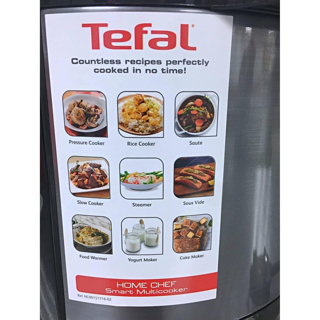 Tefal Home Chef 6 Litres 1000w Smart Multicooker Cy601d Cy601d65 Electrical Pressure Cooker Rice Steam Brown Simmer Slow Cook Tefal Malaysia Authorized Dealer